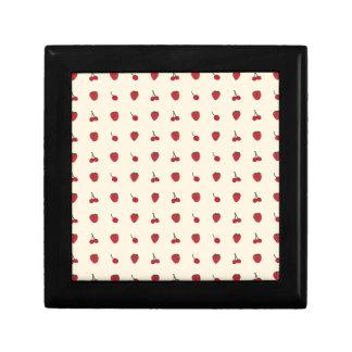 Het Patroon van kersen & van Aardbeien Decoratiedoosje