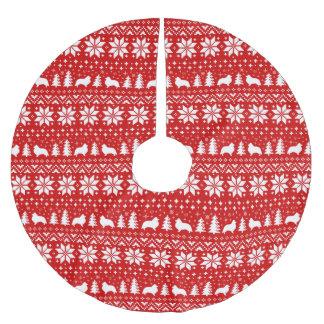 Het Patroon van Kerstmis van de Silhouetten van de Kerstboom Rok