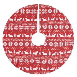 Het Patroon van Kerstmis van de Silhouetten van Kerstboom Rok