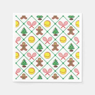 Het patroon van Kerstmis van het tennis Wegwerp Servetten