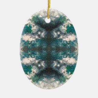 Het Patroon van Seafoam Keramisch Ovaal Ornament