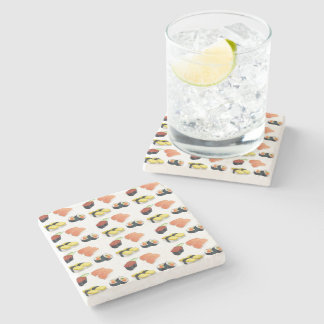 Het patroon van sushi stenen onderzetter
