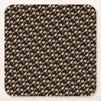 Het patroon van sushi vierkante onderzetter