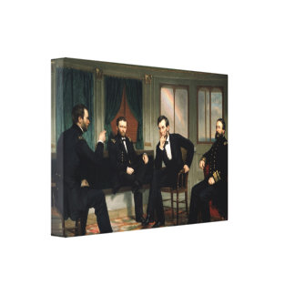 Het Peacemakers Abraham Lincoln Verpakte Canvas