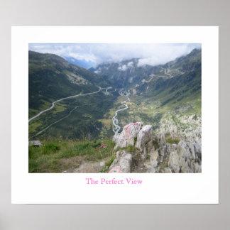 Het perfecte Uitzicht - Furka Pas, Zwitserland Poster
