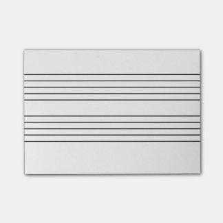 Het personeelsblocnote van de muziek post-it® notes