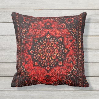 Het Perzische tapijt kijkt op rose gebied no2 Sierkussen