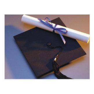 Het Pet en het Diploma van afstuderen Briefkaart