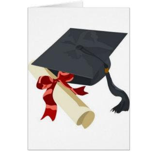Het Pet & het Diploma van afstuderen Briefkaarten 0