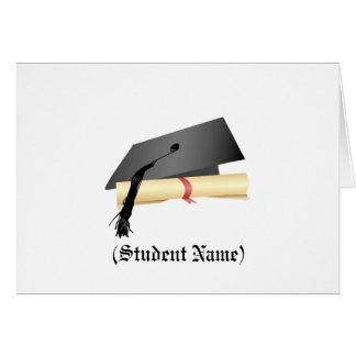 Het Pet van afstuderen en Diploma, Wenskaart