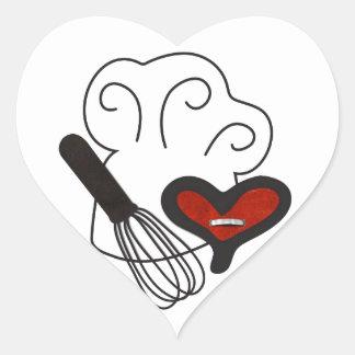 Het pet van de chef-kok het koken liefde hart sticker