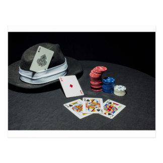 Het pet van de de kaartengangster van de pook briefkaart