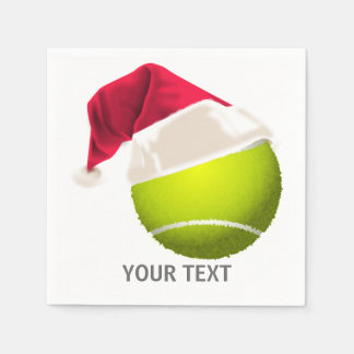 Het Pet van de Kerstman van de Bal van het Tennis Papieren Servetten