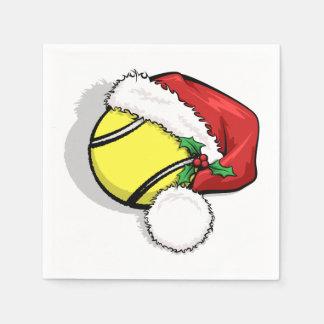 Het Pet van de Kerstman van het tennis Papieren Servet
