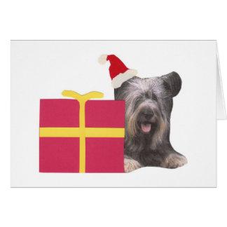 Het Pet van de Kerstman van Terrier van Skye Kaart