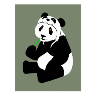 Het Pet van de panda Briefkaart