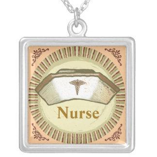 Het Pet van de verpleegster Ketting Vierkant Hangertje
