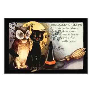 Het Pet van de Zwarte van de Kat van de uil Heks Fotoafdruk
