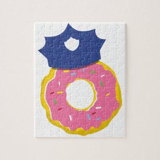 het pet van doughnutpolitiemannen legpuzzel
