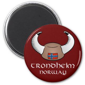 Het Pet van Trondheim Noorwegen Viking Ronde Magneet 5,7 Cm