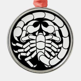 Het Pictogram van de Schorpioen van Schorpioen van Zilverkleurig Rond Ornament