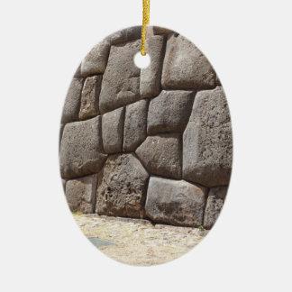 Het Pictogram van de Slang van Saqsaywaman Keramisch Ovaal Ornament