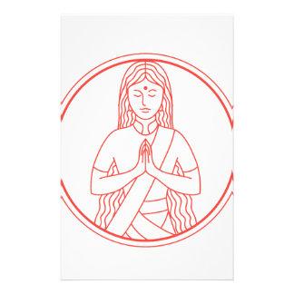 Het Pictogram van Namaste Briefpapier