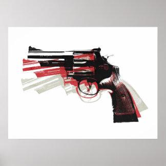 Het Pistool van het Pistool van de revolver op Wit Poster