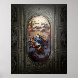 Het Plafond van de kathedraal, Rome Poster