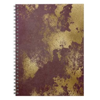 Het plannende Goud Verontruste MetaalNotitieboekje Notitieboek