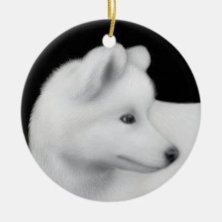Het pluizige Ornament van de Hond Samoyed
