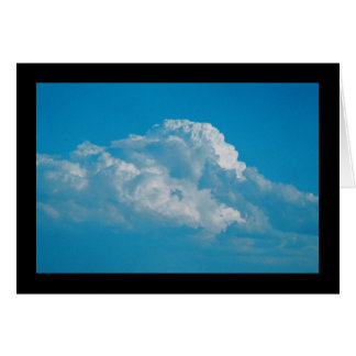 Het pluizige Witte Lied van Wolken van Sol. Het Kaart