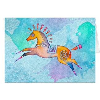 Het Pony Lege Notecard van de geest Briefkaarten 0