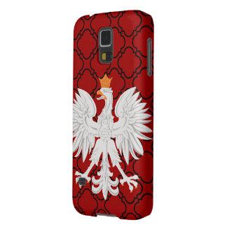 Het Poolse Rode Patroon Quatrefoil Met weerhaken v Galaxy S5 Hoesje