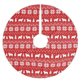 Het Poolse Rood van het Patroon van Kerstmis van Kerstboom Rok