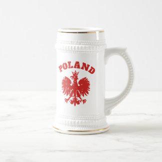 Het Poolse Symbool van Eagle van de Trots Bierpul