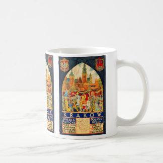 Het Poolse Vintage Poster van de Reis Koffiemok