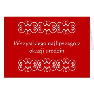 Het Poolse Wenskaart van de Verjaardag
