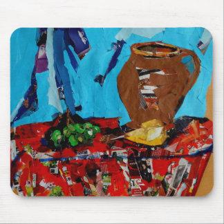 Het pop-art Mousepad van de collage stilllife Muismat