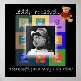 Het pop-art Teddy Roosevelt Poster