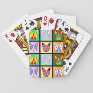 Het Pop-art van Boston Terrier Speelkaarten