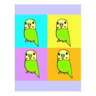 Het Pop-art van Budgie Briefkaart