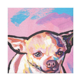 Het Pop-art van Chihuahua op Uitgerekt Canvas