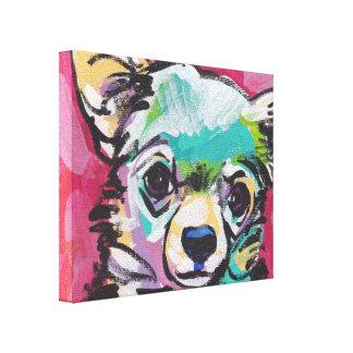 Het Pop-art van de Hond van Chihuahua op Uitgerekt Canvas Afdrukken