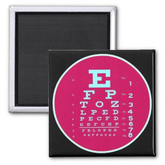 Het Pop-art van de oftalmologie: Test Uw Grafiek Magneet