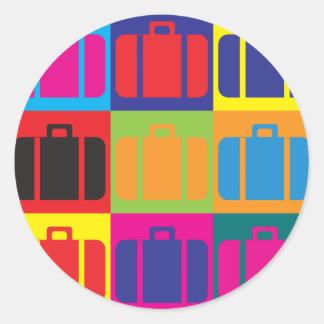 Het Pop-art van de reis Ronde Sticker
