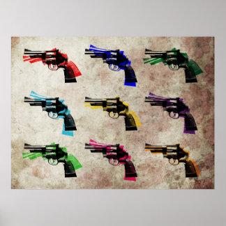 Het Pop-art van de revolver Poster
