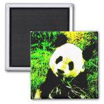 Het Pop-art van het Gezicht van de panda Koelkast Magneten