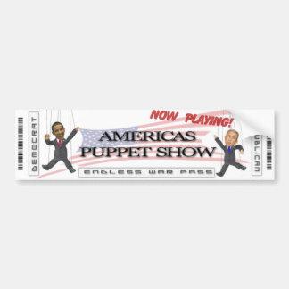 Het Poppenspel van Amerika Bumpersticker