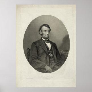 Het Portret van ABRAHAM LINCOLN door J.H. Bufford Poster